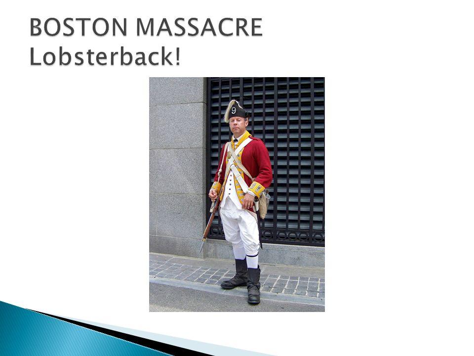 Les tensions entre les colons et les soldats britanniques ont augmente.