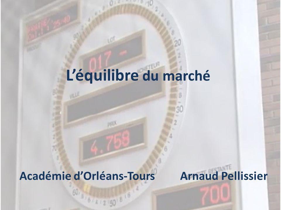 Léquilibre du marché Académie dOrléans-Tours Arnaud Pellissier