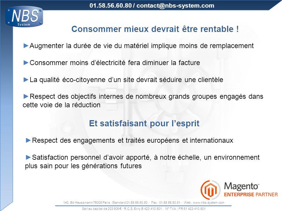 140, Bd Haussmann 75008 Paris · Standard 01.58.56.60.80 · Fax : 01.58.56.60.81 · Web : www.nbs-system.com Sarl au capital de 203 905 · R.C.S.