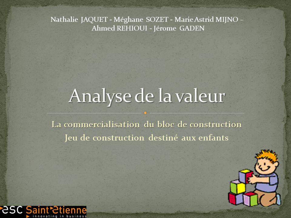 La commercialisation du bloc de construction Jeu de construction destiné aux enfants Nathalie JAQUET - Méghane SOZET - Marie Astrid MIJNO – Ahmed REHI