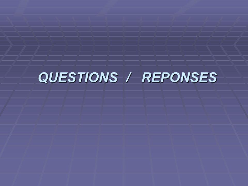 projet ASR 2006/2007 QUESTIONS / REPONSES QUESTIONS / REPONSES