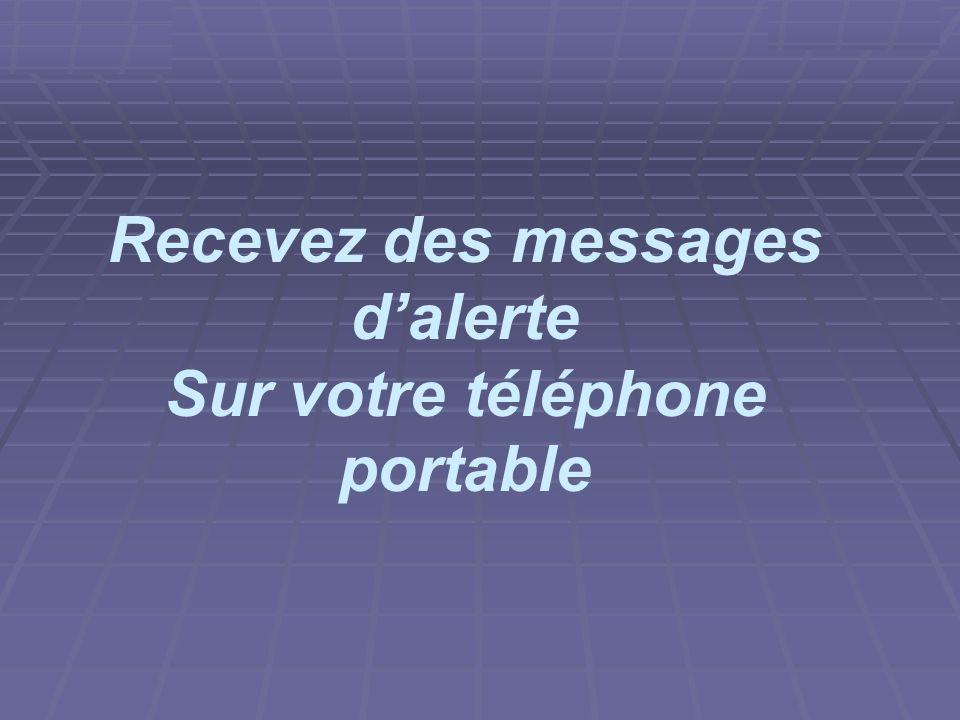 projet ASR 2006/2007 Recevez des messages dalerte Sur votre téléphone portable