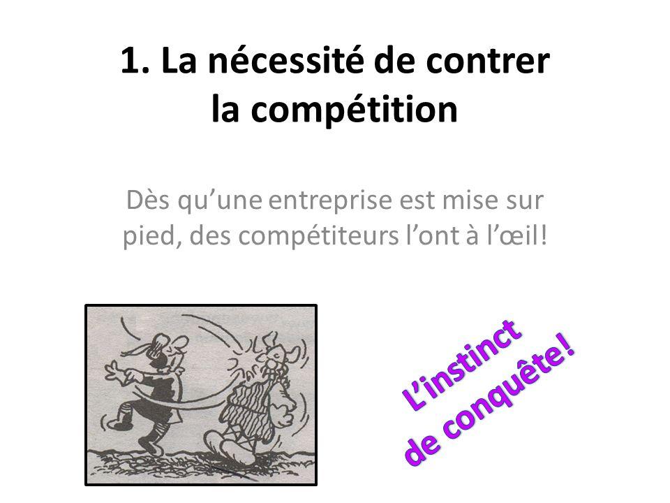 1. La nécessité de contrer la compétition Dès quune entreprise est mise sur pied, des compétiteurs lont à lœil!