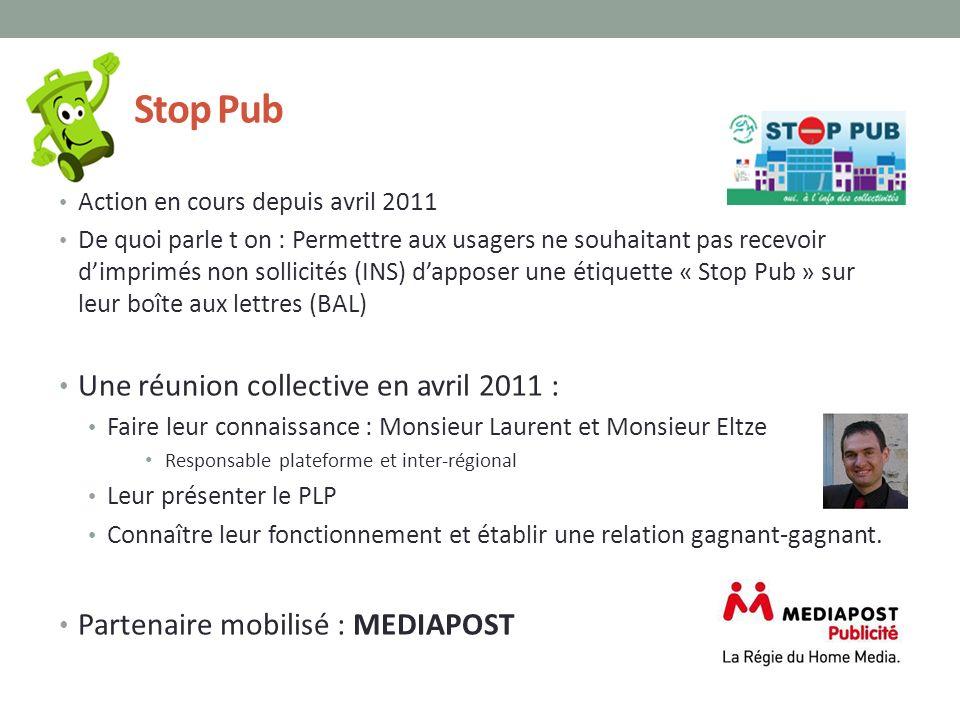 Stop Pub Action en cours depuis avril 2011 De quoi parle t on : Permettre aux usagers ne souhaitant pas recevoir dimprimés non sollicités (INS) dappos