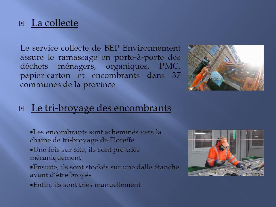 La collecte Le service collecte de BEP Environnement assure le ramassage en porte-à-porte des déchets ménagers, organiques, PMC, papier-carton et enco