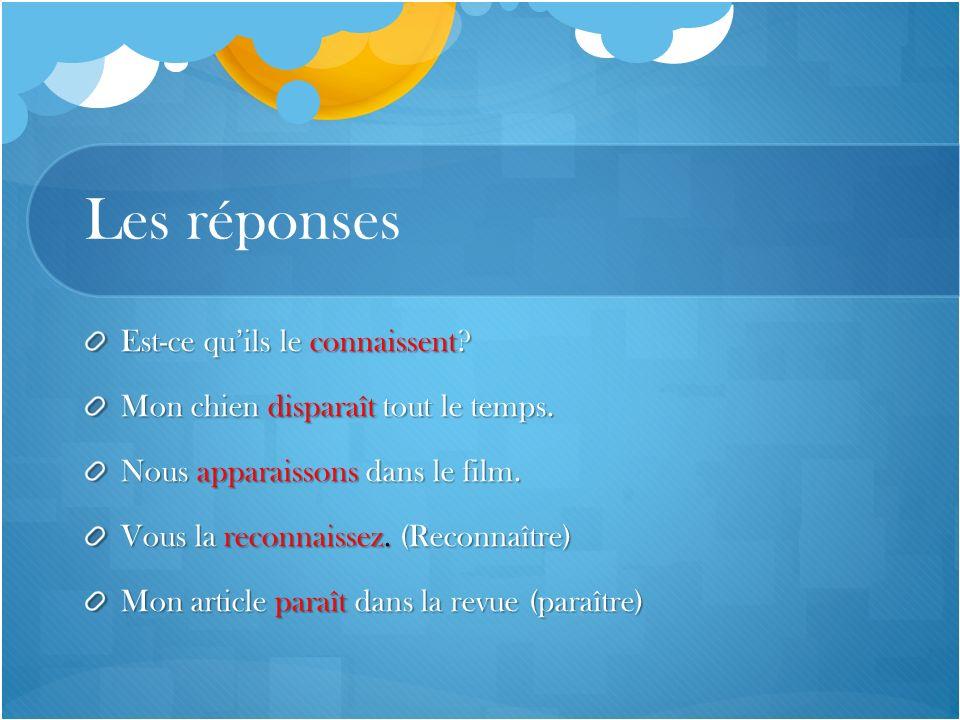 Pratique Je …….mes devoir de francais pour demain (finir) Tu …..