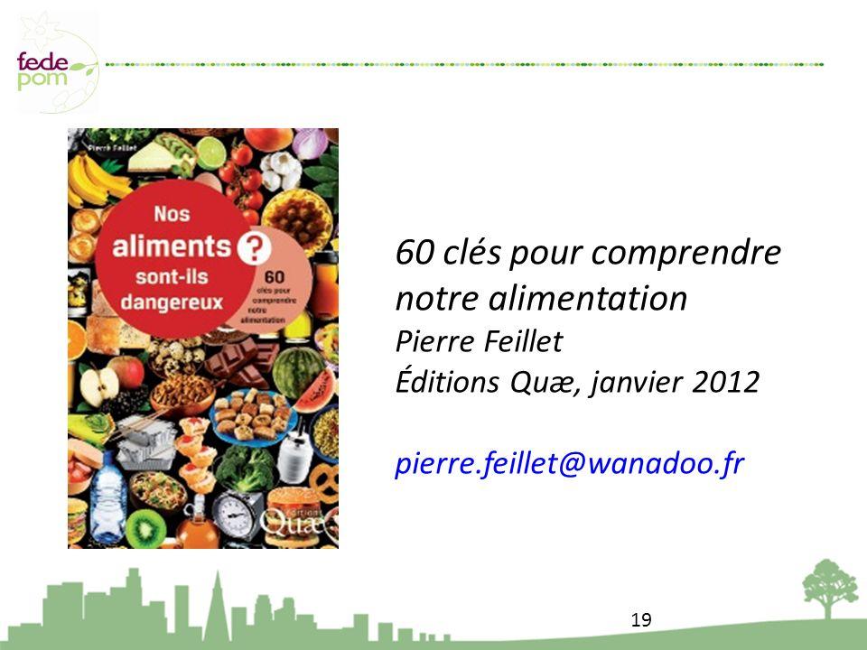 60 clés pour comprendre notre alimentation Pierre Feillet Éditions Quæ, janvier 2012 pierre.feillet@wanadoo.fr 19