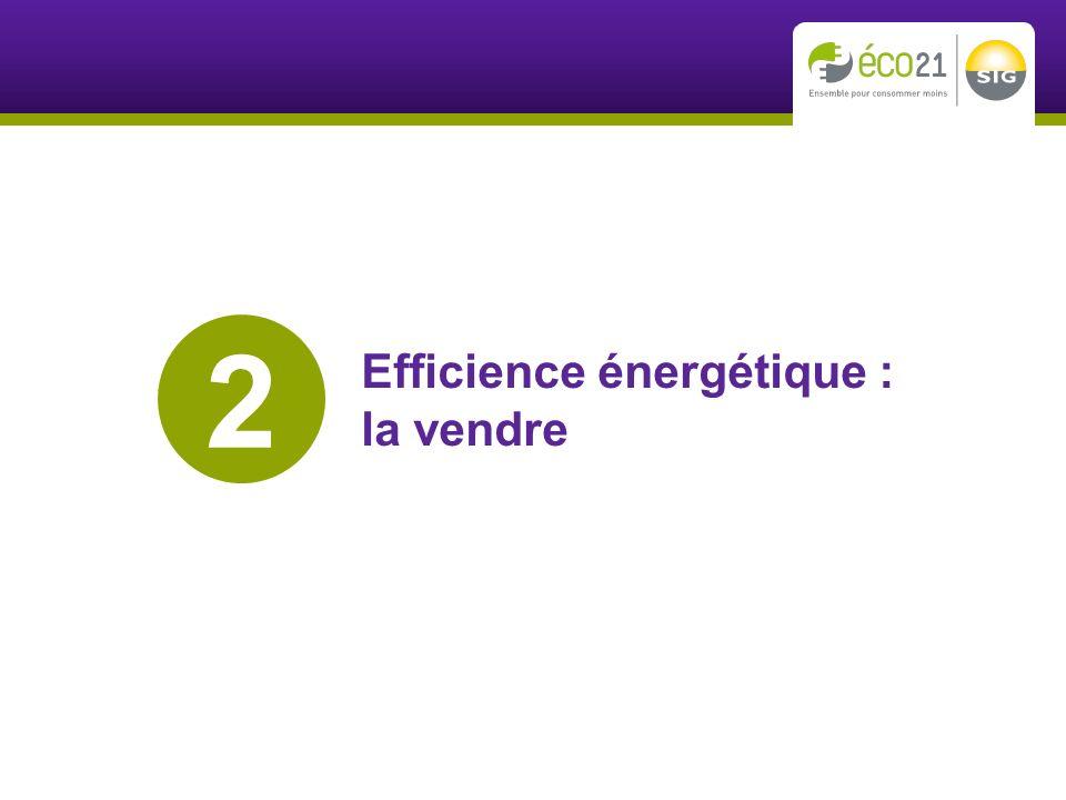 Efficience énergétique : la vendre 2