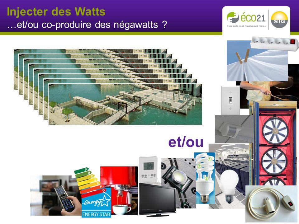 Injecter des Watts …et/ou co-produire des négawatts et/ou