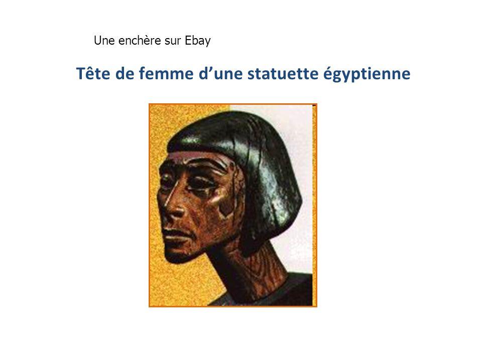 Tête de femme dune statuette égyptienne Une enchère sur Ebay