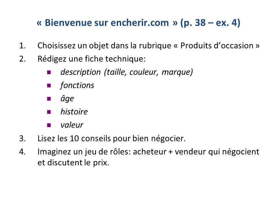 « Bienvenue sur encherir.com » (p.38 – ex.