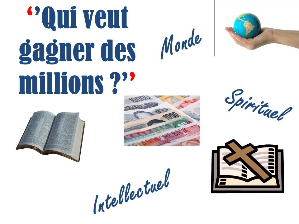 Qui veut gagner des millions Monde Spirituel Intellectuel
