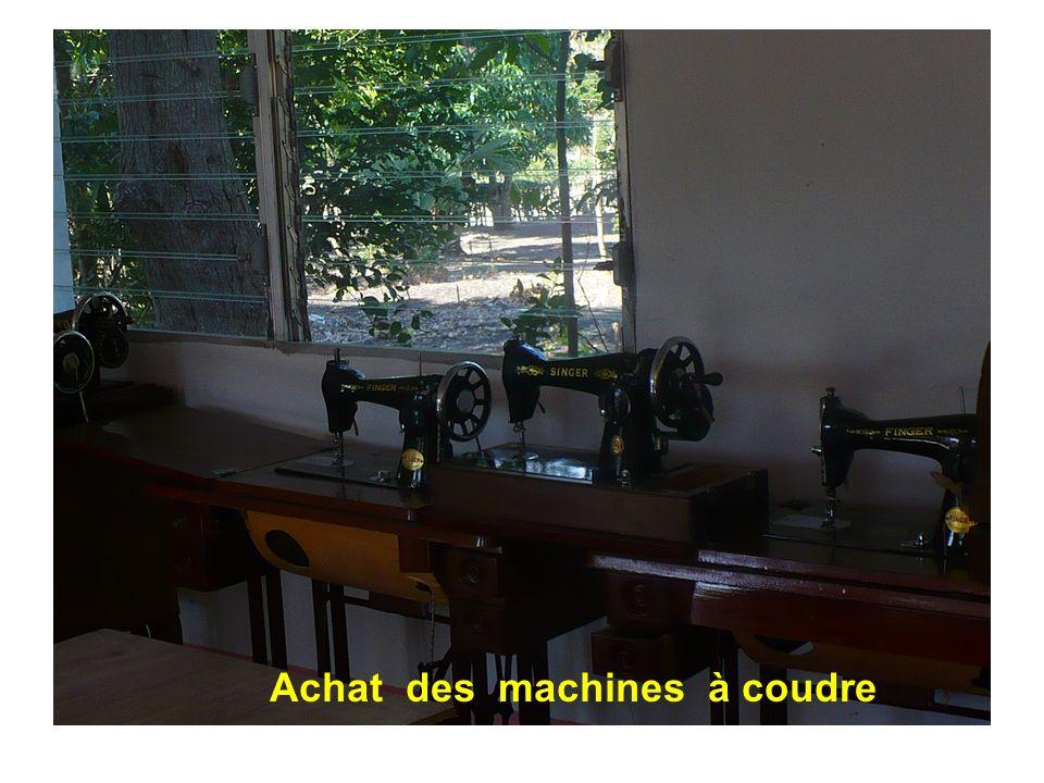 Achat des machines à coudre