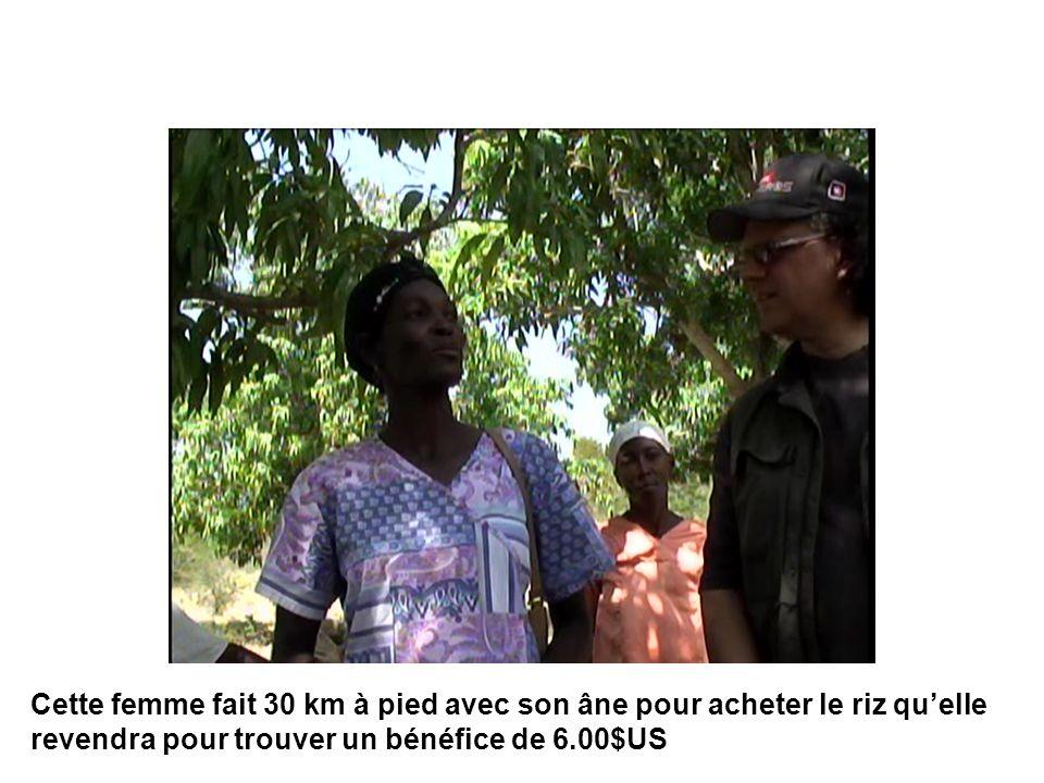 Cette femme fait 30 km à pied avec son âne pour acheter le riz quelle revendra pour trouver un bénéfice de 6.00$US