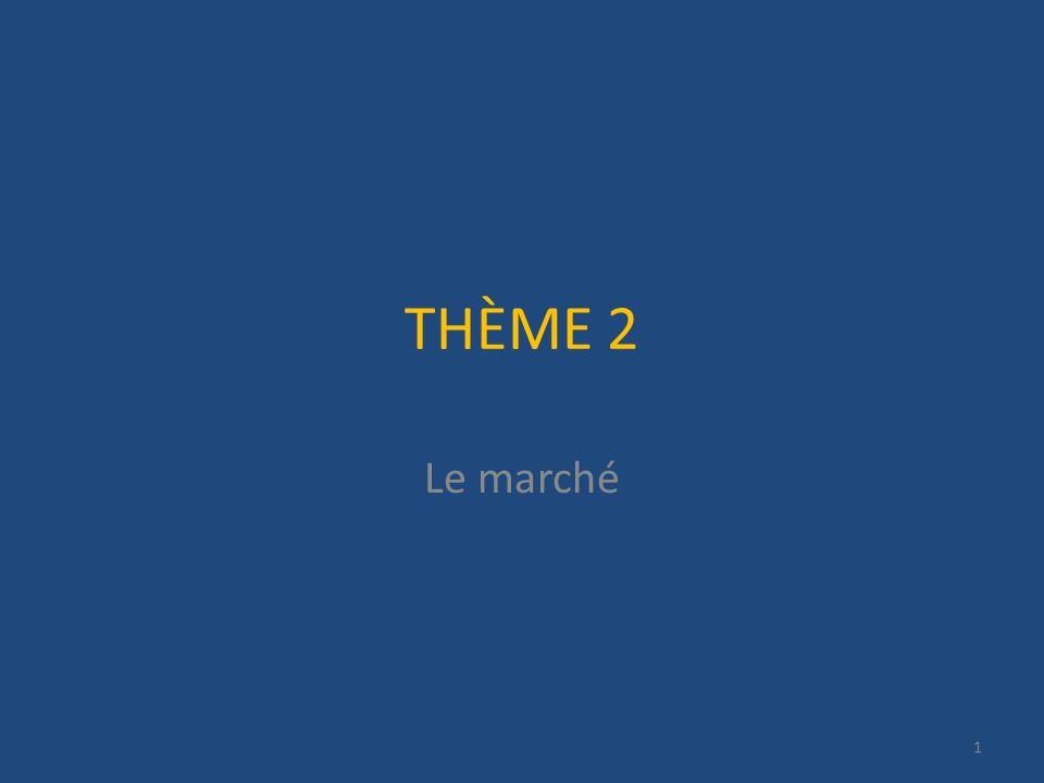 THÈME 2 Le marché 1