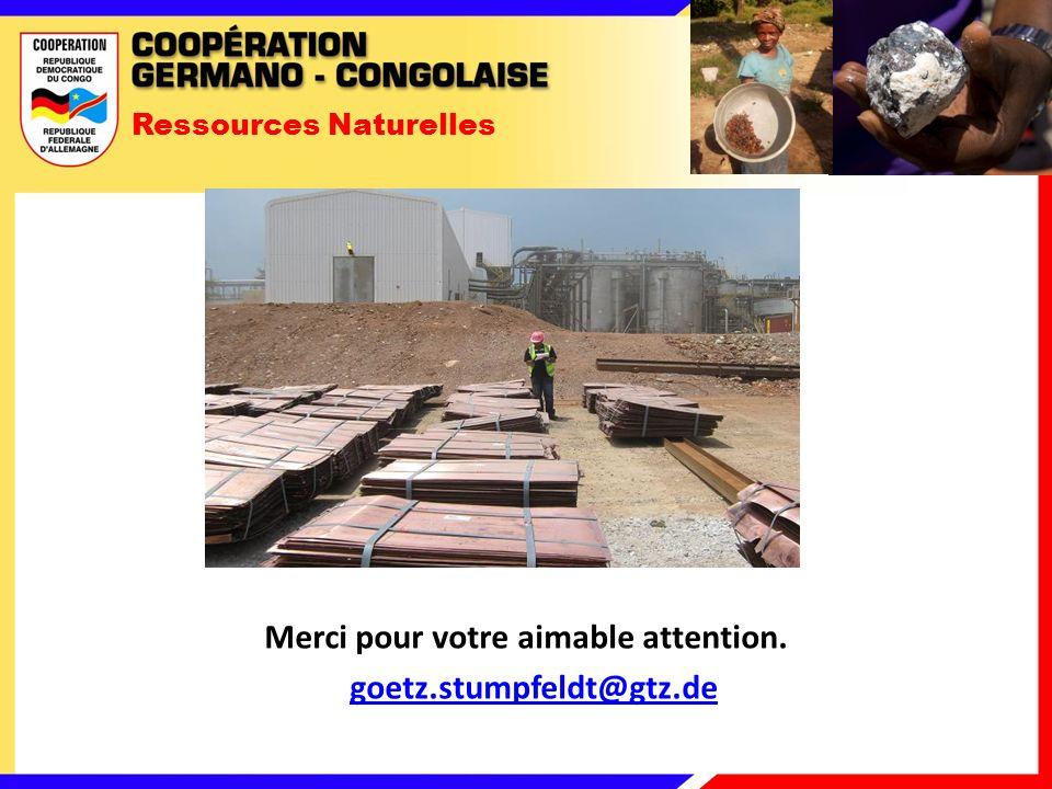 Ressources Naturelles Merci pour votre aimable attention. goetz.stumpfeldt@gtz.de