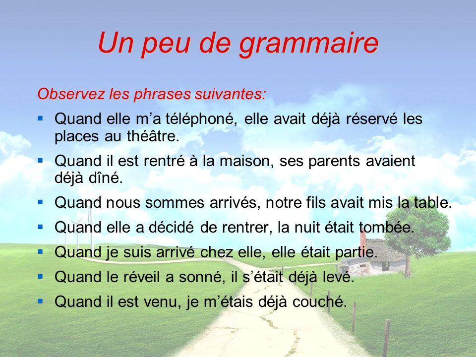 Observez les phrases suivantes: A Paris, dans mon jeune âge, je me promenais le long de la Seine, quand javais terminé mon travail.