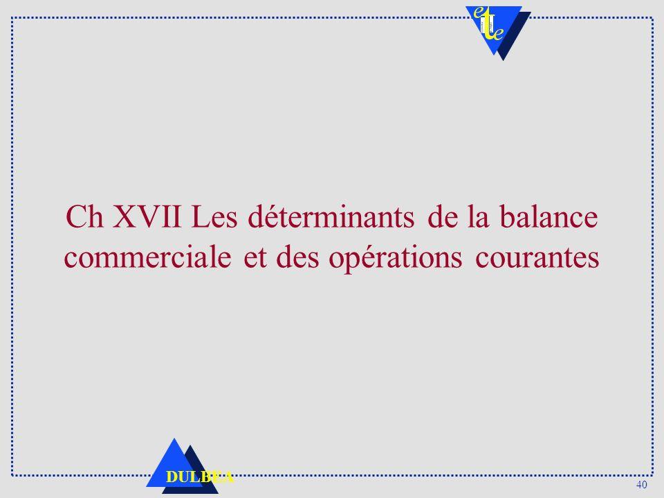 40 DULBEA Ch XVII Les déterminants de la balance commerciale et des opérations courantes
