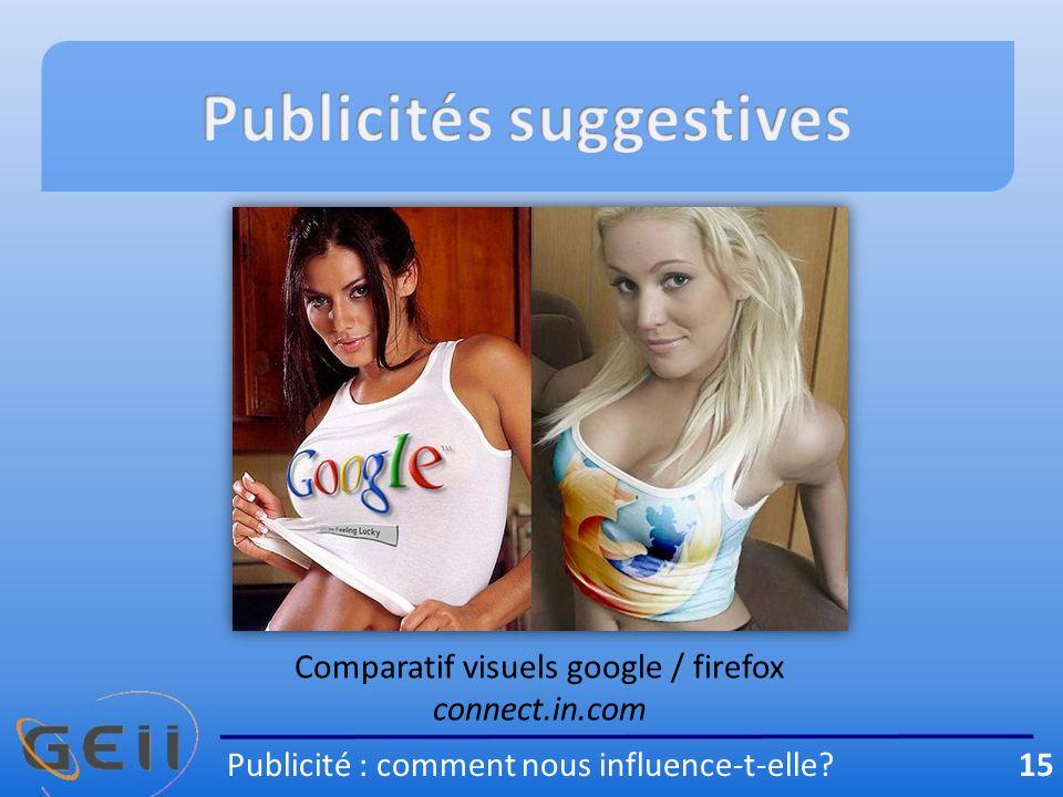 Publicité : comment nous influence-t-elle? 15 Comparatif visuels google / firefox connect.in.com