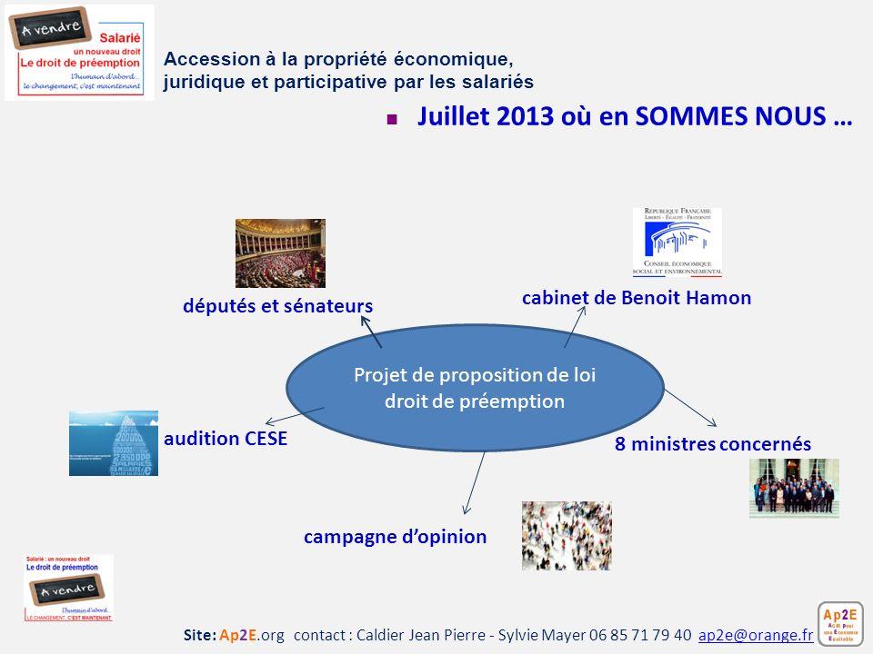 Site: Ap2E.org contact : Caldier Jean Pierre - Sylvie Mayer 06 85 71 79 40 ap2e@orange.frap2e@orange.fr Juillet 2013 où en SOMMES NOUS … Accession à l