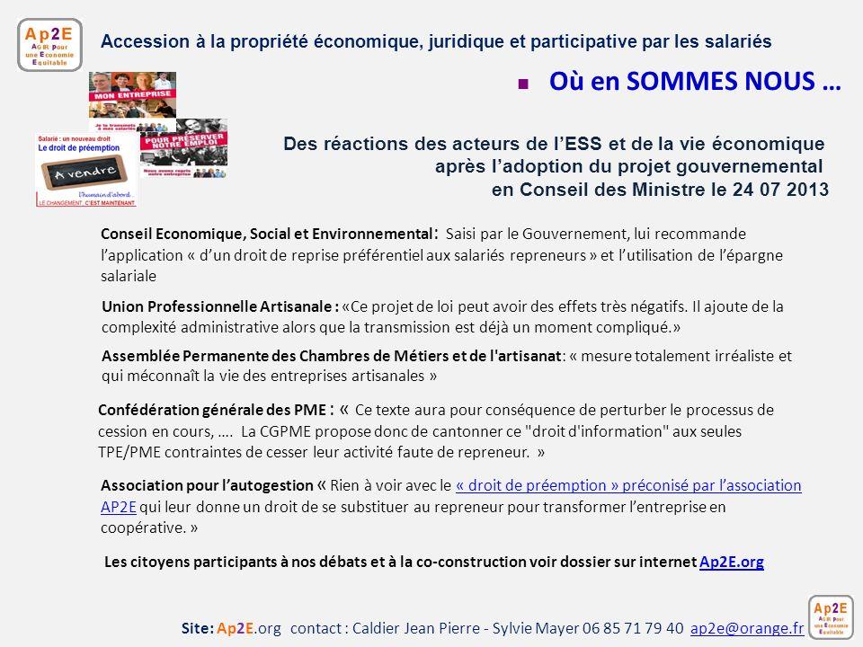 Site: Ap2E.org contact : Caldier Jean Pierre - Sylvie Mayer 06 85 71 79 40 ap2e@orange.frap2e@orange.fr Accession à la propriété économique, juridique
