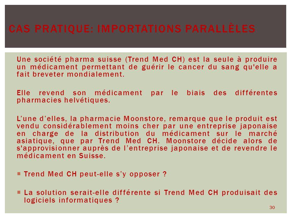 Une société pharma suisse (Trend Med CH) est la seule à produire un médicament permettant de guérir le cancer du sang qu'elle a fait breveter mondiale