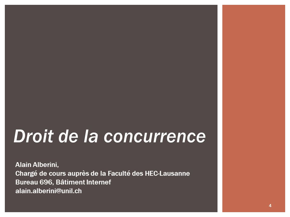 Bases légales: Art.4 al. 3 LCart: notion de concentration dentreprises; Art.