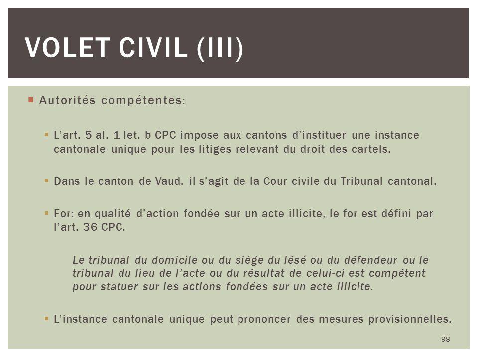 Autorités compétentes: Lart. 5 al. 1 let. b CPC impose aux cantons dinstituer une instance cantonale unique pour les litiges relevant du droit des car