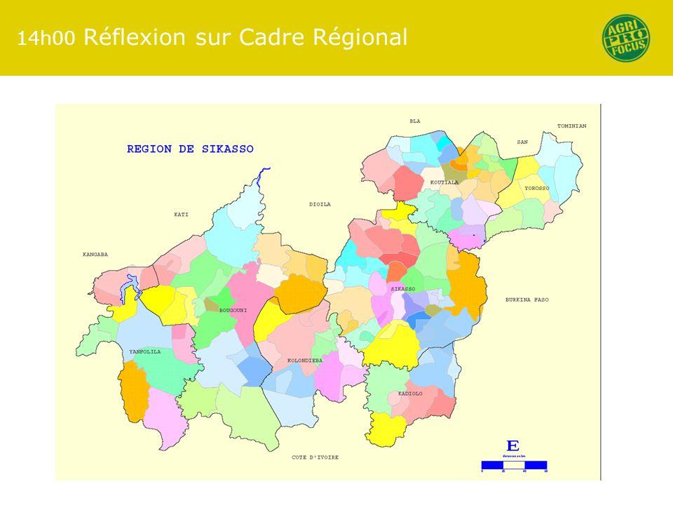 14h00 Réflexion sur Cadre Régional