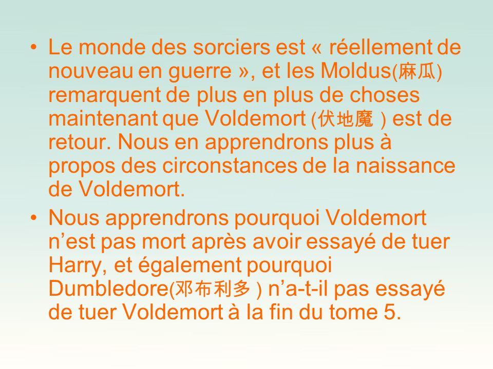 Le monde des sorciers est « réellement de nouveau en guerre », et les Moldus ( ) remarquent de plus en plus de choses maintenant que Voldemort ( ) est