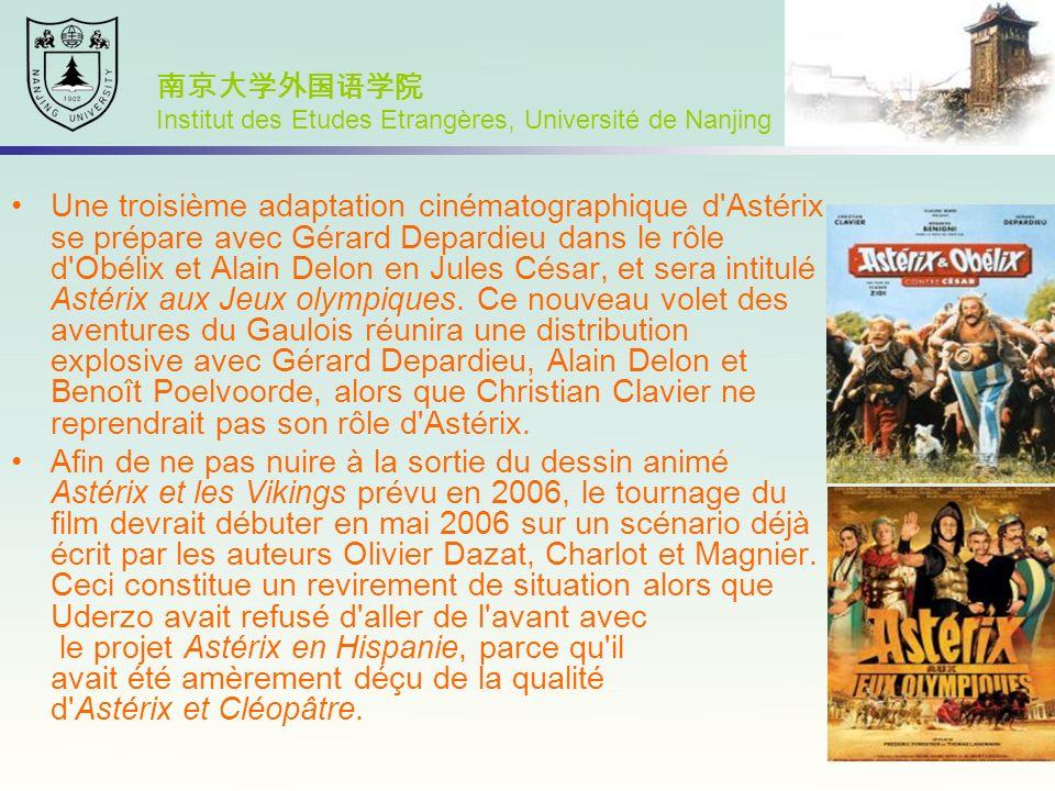 Une troisième adaptation cinématographique d'Astérix se prépare avec Gérard Depardieu dans le rôle d'Obélix et Alain Delon en Jules César, et sera int