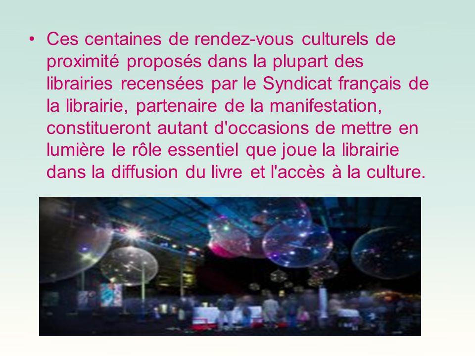 Ces centaines de rendez-vous culturels de proximité proposés dans la plupart des librairies recensées par le Syndicat français de la librairie, parten