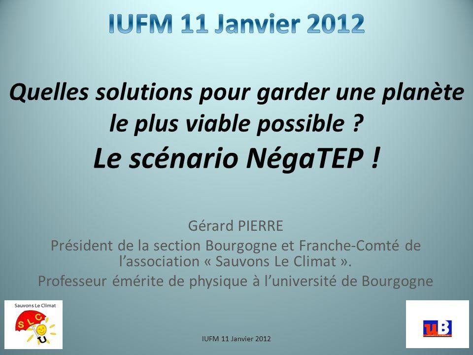 Gérard PIERRE Président de la section Bourgogne et Franche-Comté de lassociation « Sauvons Le Climat ».