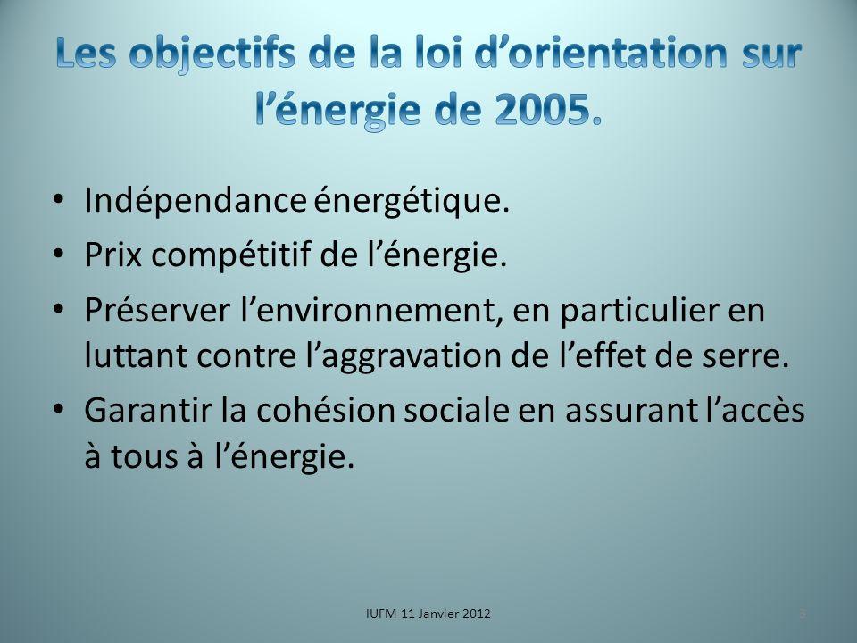 Indépendance énergétique. Prix compétitif de lénergie.