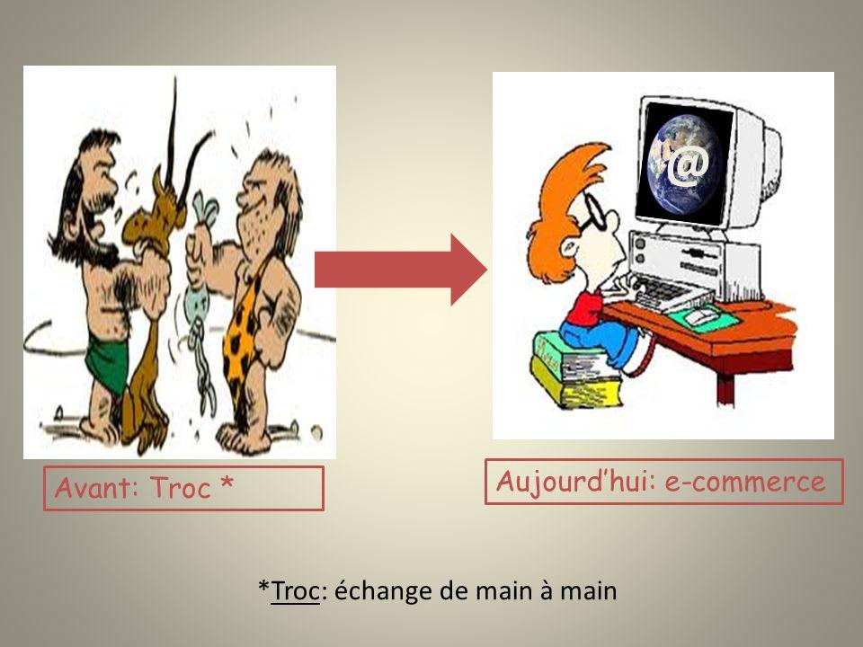 *Troc: échange de main à main @ Avant: Troc * Aujourdhui: e-commerce