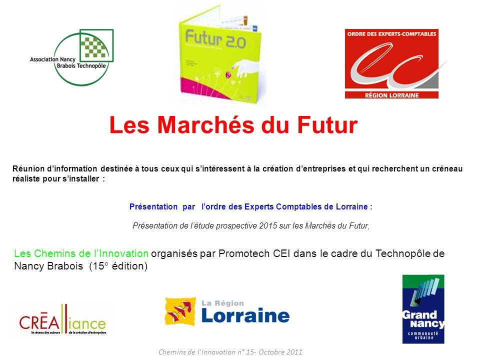 LEvolution des Comportements Chemins de l Innovation n° 15 - Octobre 2011 Les Marchés du Futur T.Baillet