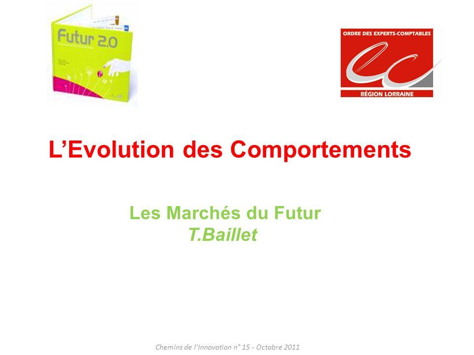 LEvolution des Comportements Chemins de l'Innovation n° 15 - Octobre 2011 Les Marchés du Futur T.Baillet