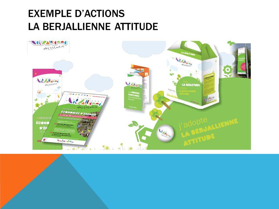 EXEMPLE DACTIONS LA BERJALLIENNE ATTITUDE