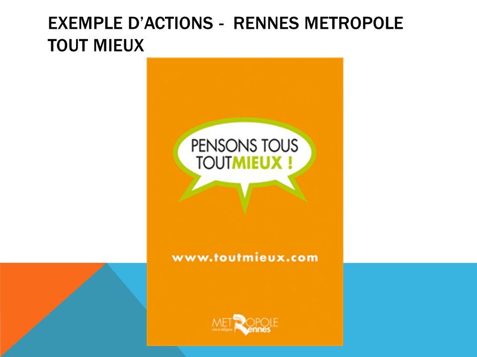 EXEMPLE DACTIONS - RENNES METROPOLE TOUT MIEUX