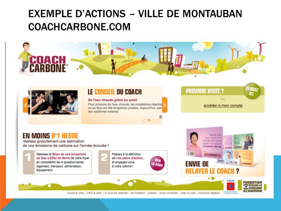 EXEMPLE DACTIONS – VILLE DE MONTAUBAN COACHCARBONE.COM