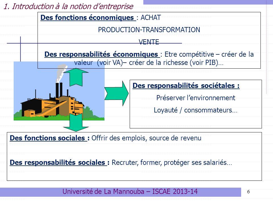 Intérêt des classifications 47 Les classifications permettent de mieux comprendre la structure du tissus économique dun pays, dune région, dun secteur, dune filière.