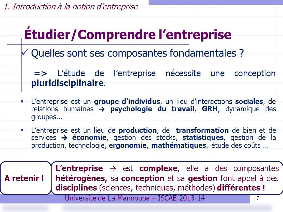 7 Étudier/Comprendre lentreprise Quelles sont ses composantes fondamentales .