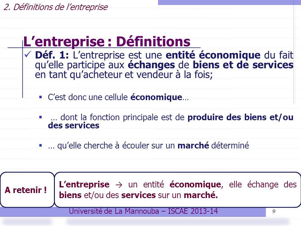 30 Ce secteur comprend les entreprises industrielles, celles qui procèdent à la transformation: … des matières premières en produits finis: ex.