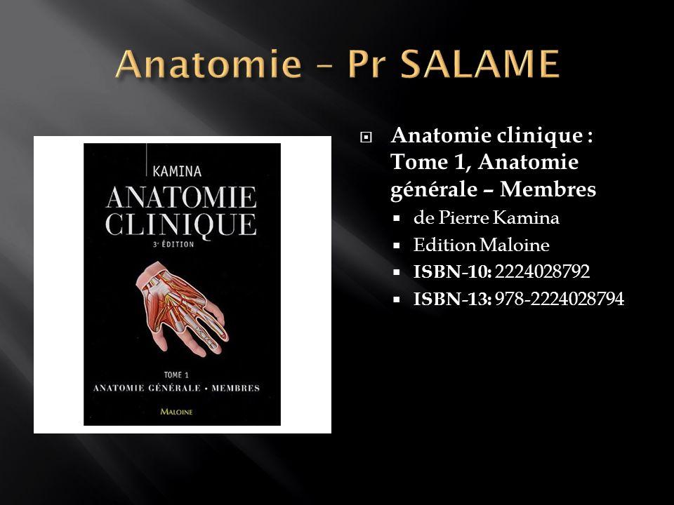 Anatomie clinique : Tome 3, thorax, abdomen de Pierre Kamina Edition Maloine ISBN-10: 2224029608 ISBN-13: 978-2224029609