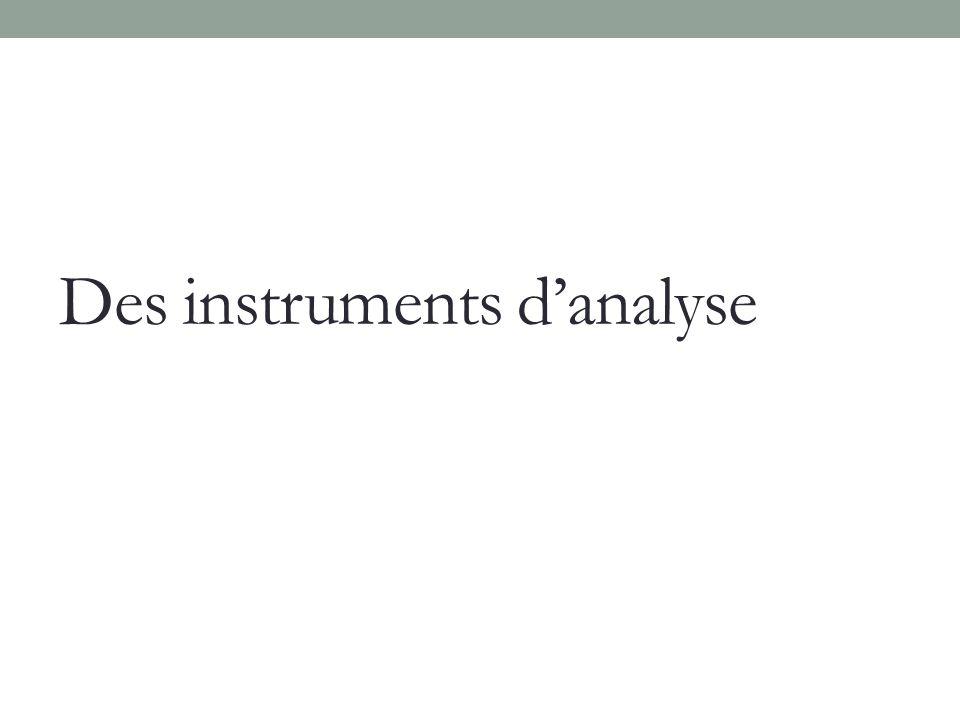 Des instruments danalyse