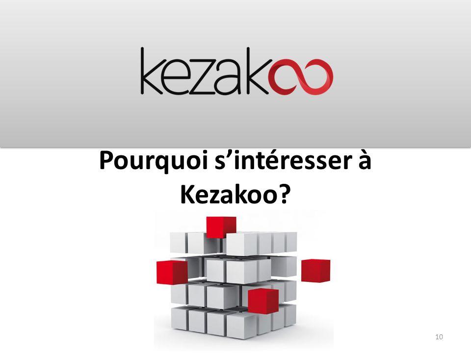 Pourquoi sintéresser à Kezakoo? 10
