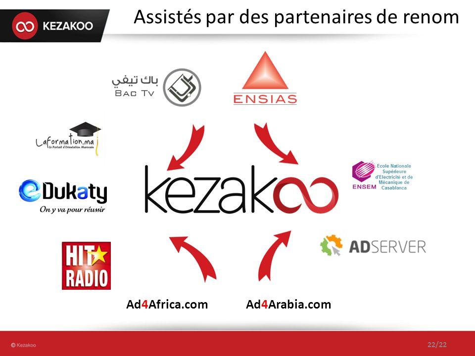 Assistés par des partenaires de renom Ad4Arabia.comAd4Africa.com 22/22