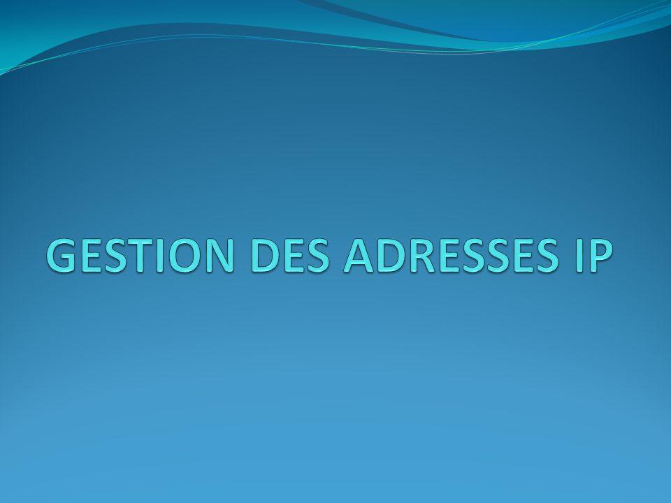 Organisation de l allocation d adresses IP 1.Sur délégation du gouvernement des Etats-Unis, 2.