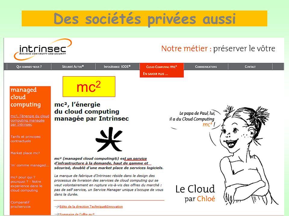 Des sociétés privées aussi mc 2