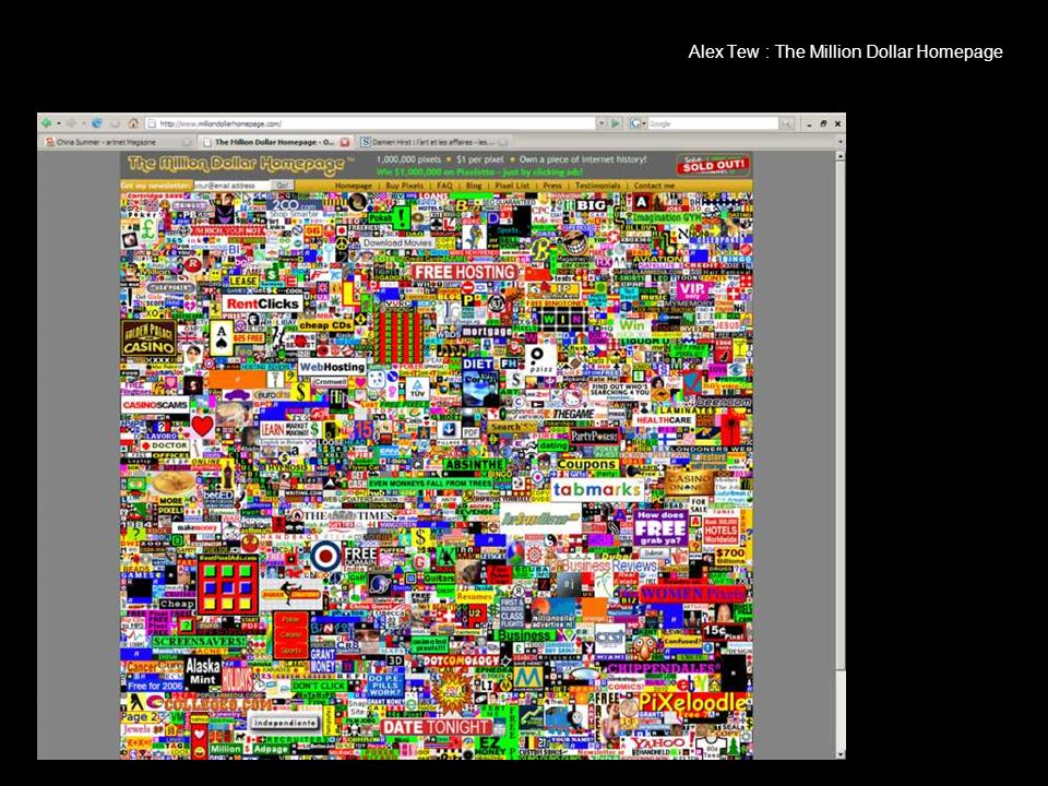 Alex Tew : The Million Dollar Homepage